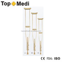 Rehabilitation Therapy Suppliers topmedi Walking Sticks Adjustable Height portable lightweight Walking wooden crutches