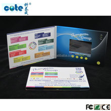 4.3 inch LCD video card, A5 LCD video greeting card, video capture card