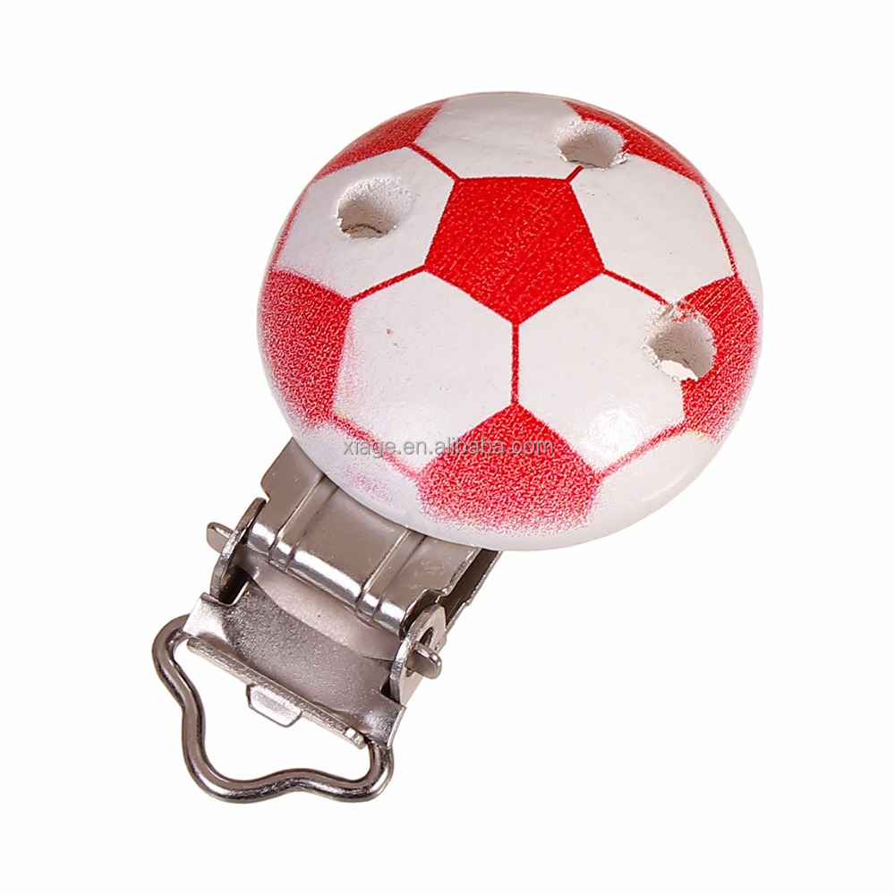 High Quality but Cheap Funny Football Shape Pacifier Clip For Baby