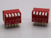 2.54 Pitch Dual Rows 5 Ways Side Piano DIP Switch