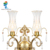 Decor Bedroom fashion double brass crystal wall lamp