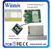 ip rj45 and rs232 1 port uhf fixed impinj indy r500 rfid card reader/writer module