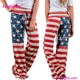 China Manufacture Best Selling American Flag Pants And Trousers For Women