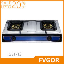 Fvgor GST-T3 stainless steel cast iron 2 burner cheap table gas stove