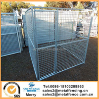 6'HX4'WX4'L galvanized square tube dog house uptown welded wire dog kennel enclosure