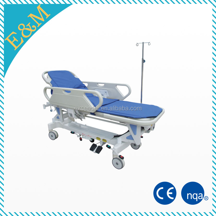 Four castor rise and fall patient transfer bed for uci folding beds for adults