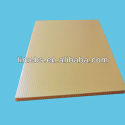 Yellow Coroplast Packaging Sheet,4mm hollow plastic board,yellow corrugated plastic sheet
