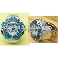 Sun flower digits finger ring watch elastic watch band