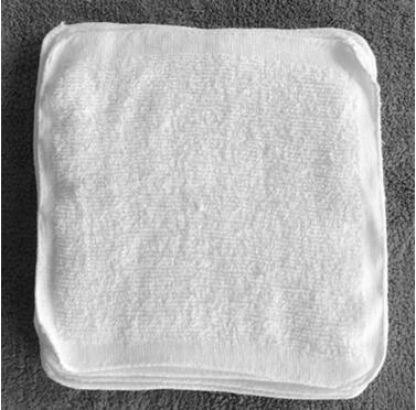 China Factory White Cotton Disposable Aviation hand Towels