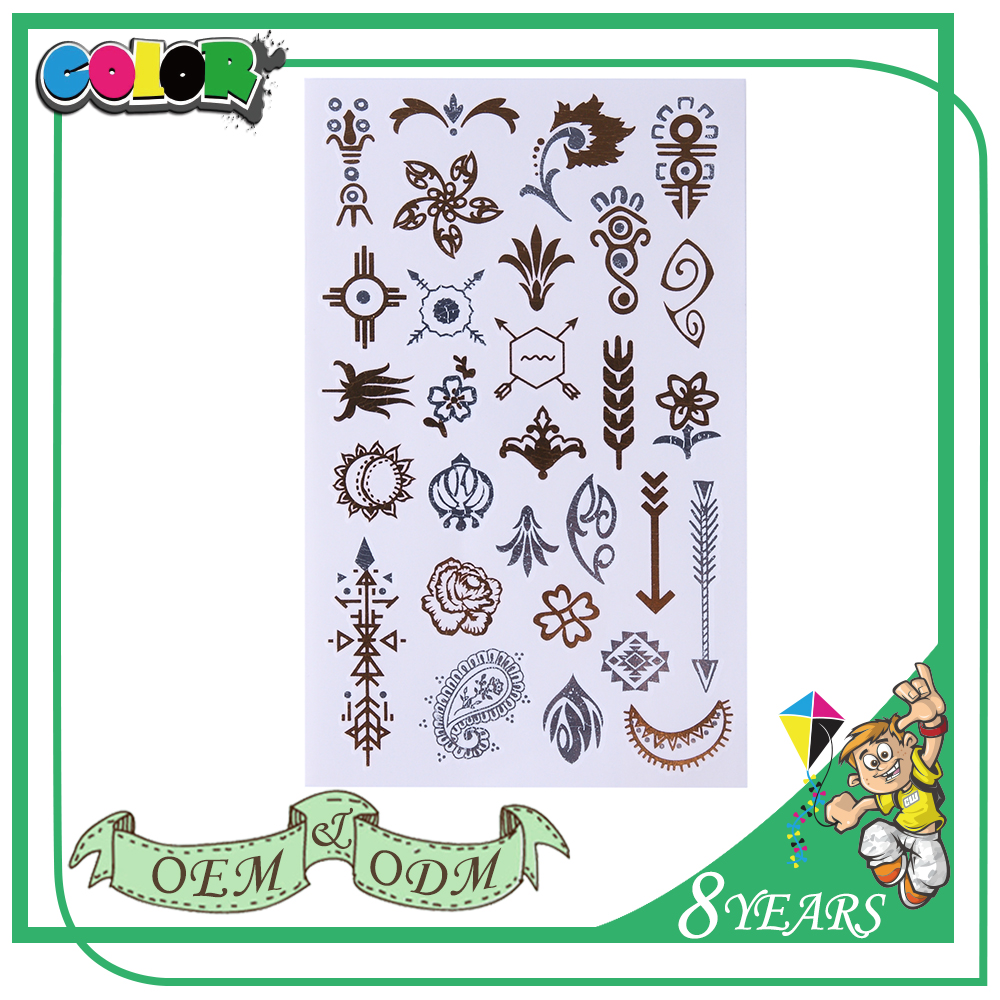 Top Selling Top Quality High Quality Material Special Design Beautiful Self Adhesive Body Glitter Tattoo