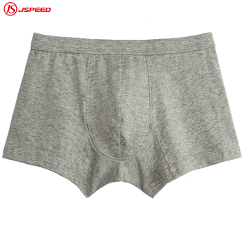 custom high quality soft gray men boxer briefs shorts underwear