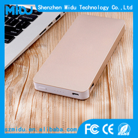 Newest Portable Dual USB Slim Power Bank 10000mah Metal Power Bank