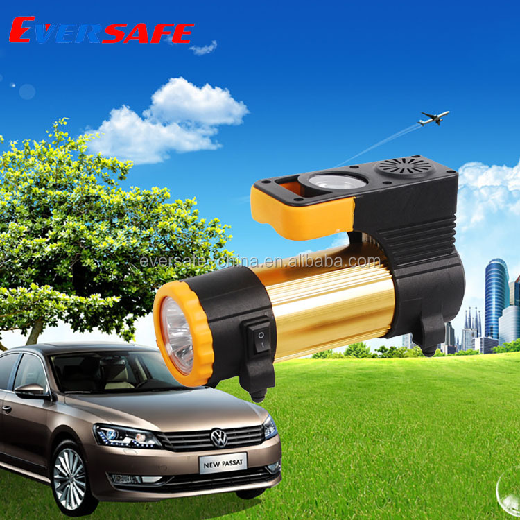 tire repair kit 12V automatic tire inflator single cylinder and working light or LED display