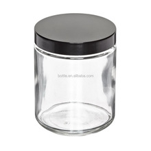 1 OZ 2OZ 4 OZ Clear Straight Sided Glass Jars