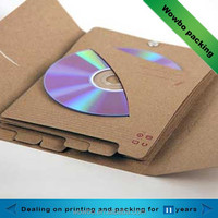 high quality kraft paper CD packagings fancy design