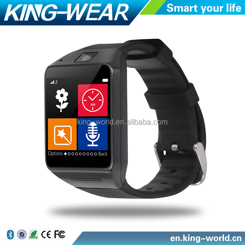 "Kingwear GV08 DZ09 Smart Watch Android Support SIM TF Card Phone Call 1.54"" Screen 1.3MP Camera watch phone for Android Phone"