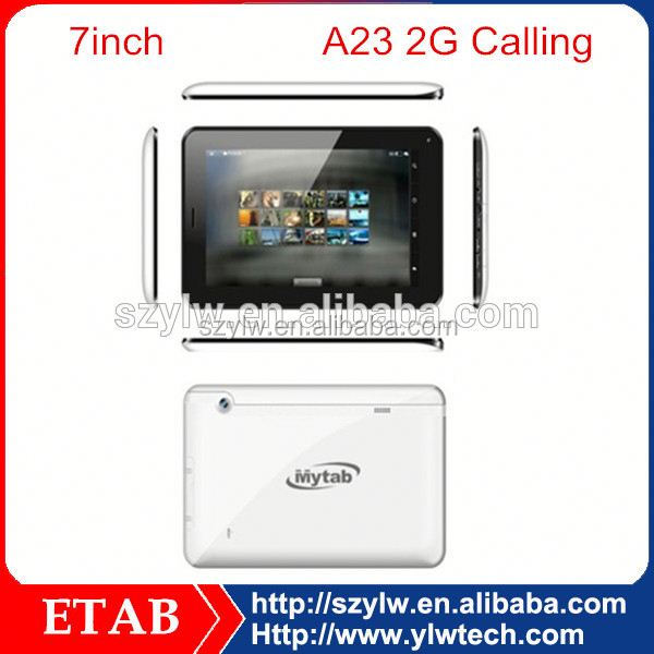 7 inch A23 dual core android 2G sim card electronic tablet