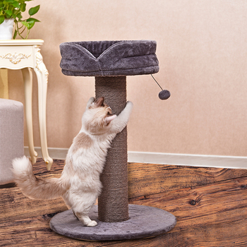 Removable bed modern cat scratcher tree with playing swing toys,cat tree castle