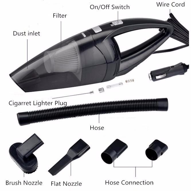 High Power 12V Portable Car Wet Dry Vaccum Cleaner