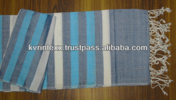customized stripe viscose scarf in your pattern