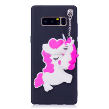 Unique Animal Mobile phone Case Flamingos Slim Shockproof Soft Silicone Rubber TPU Bumper Cover Skin Case for Note 8