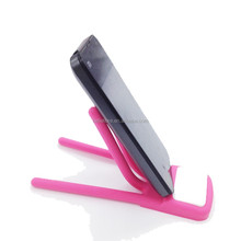 FDA SGS Fold Finger Shape Silicone Phone Holder Novelty Silicone Mobile phone Holder stand