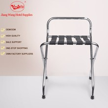 Hotel Five Black Straps stainless steel luggage rack for hotels