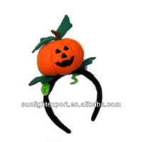 Top velvet pumpkin Halloween party headband