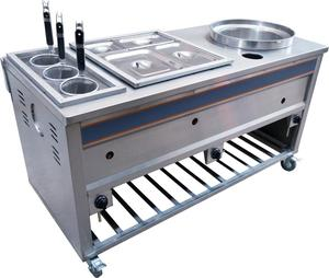 Commercial Multi-Function Pasta Cooker, Electric Bain Marie Combination For Cooking