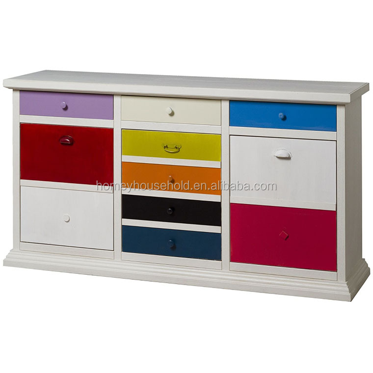 French Style Luxury Storage Modern Sideboard With Drawers