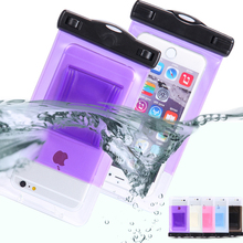 Waterproof bag with luminous underwater case phone case for iphone 5 5s yes 6 6 s plus for samsung galaxy s6 s7 edge note 5 7