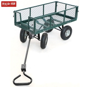 Good quality mesh type 4 wheels garden cart wagon tools on sale