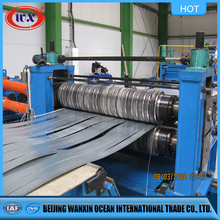 New slitting and rewinding machine for steel coil