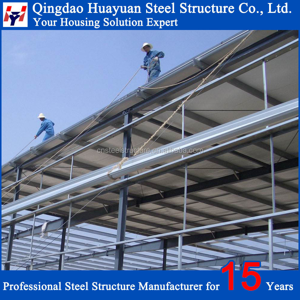 Prefabricated light structural steel warehouse building plans