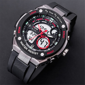 Top Luxury Men Sport Watches Waterproof OTS Army Military Dual Time Quartz Luminous Clock O.T.S 8083 Brand Men Digital Led Watch