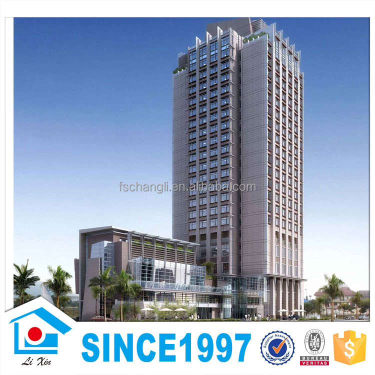 Multiple Storey Commercial Hotel Prefabricated High Rise Steel Structure Building