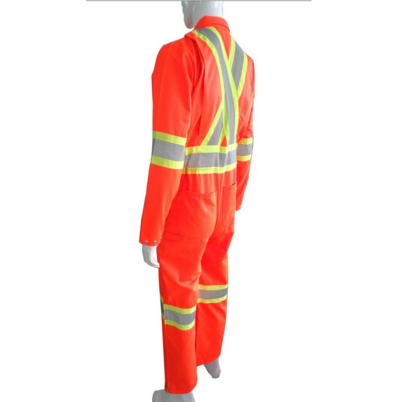 Canadian Market 10cm Wide reflective tapes Fluorescent Yellow Quilted coverall with 200gsm Polyfilling