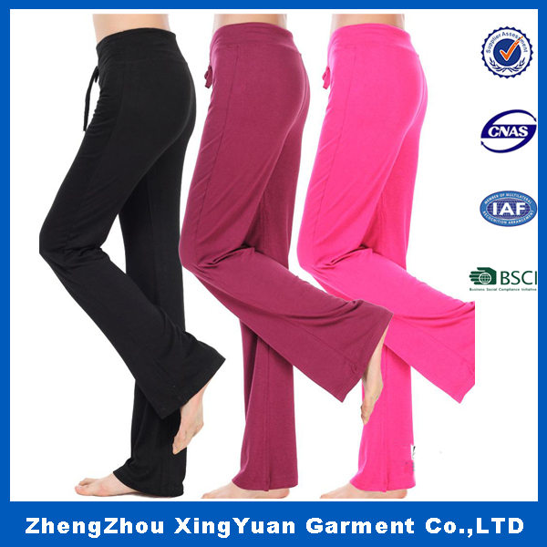 Wholesale OEM Women cotton /French Terry Sweatpants / Jogging / Jogger /Yoga Long /Track Pants