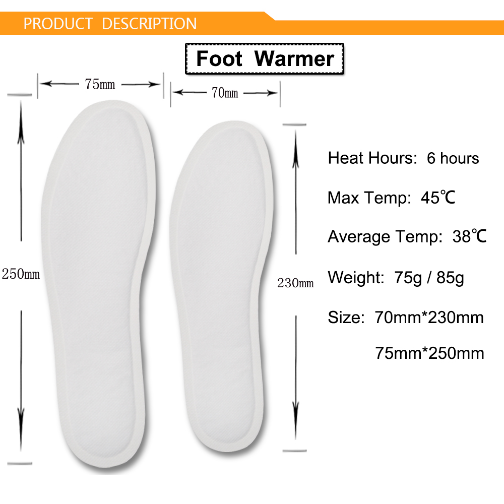 Advanced Technology 6 Hours New Design Heat Pad Foot Insole Warmer