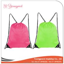 2016 Wholesale Cheap Promotional Polyester Drawstring Bag