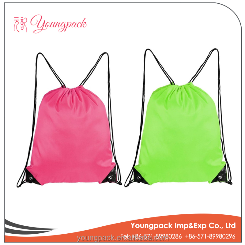 New Wholesale Cheap Promotional Polyester Drawstring Bag
