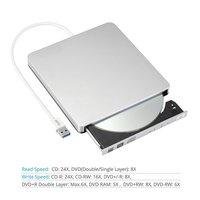 USB 3.0 Portable External Slot DVD-RW CD-RW Burner Writer External DVD Drive