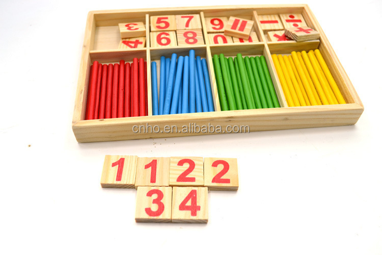 Wooden educational toys math learning toys counting sticks for kids