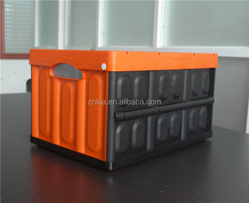 collapsible car truck organizer & storage holder Lid plastic box bin for SUV