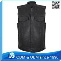 Customed Leather Vest Motorcycle Mens Vest Wholesale
