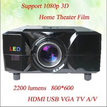 800*600 Resolution 90% Light Uniformity With HDMI USB VGA TV Interface Multimedia Projector