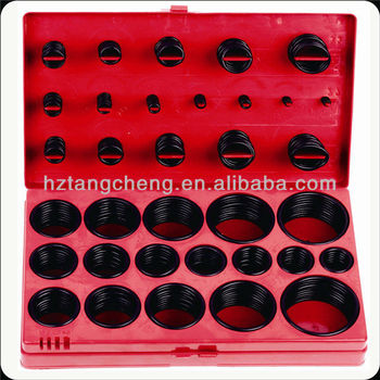 TC 407pc Black SAE O-ring Assortment For Machine