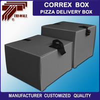 UK Europe Popular correx Motorcycle or scooter food pizza delivery box