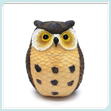 Owl Design Pen Pencil Holder Cute Desk Organizer Decoration for Home and Office(Black)