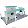 Detian Offer wood and portable stand sales booth for exhibition